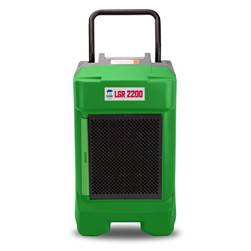 B-Air VG-2200 225 Pint Commercial LGR Dehumidifier for Water Damage Restoration Mold Remediation, Green