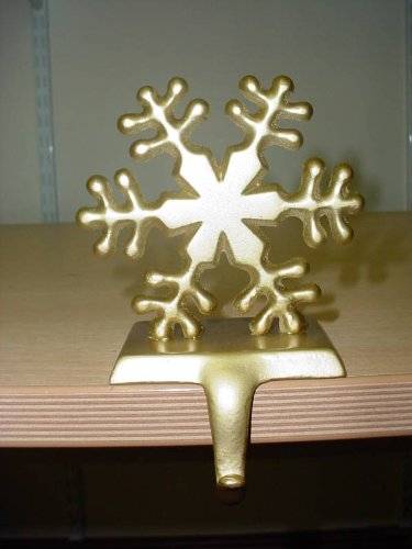 - Christmas Concepts Gold Snowflake Stocking Hanger (D12)