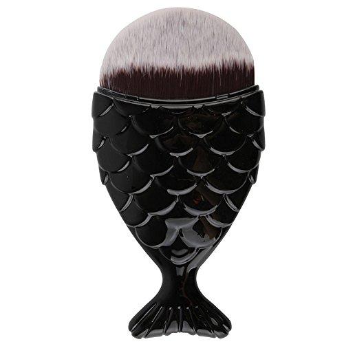 Iskas Chubby Fish Makeup Foundation Brush Professional Fishtail Bottom Brush Beauty Blush Tool for Liquid Powder Cream Cosmetics - - Cheekbones Face High Shape
