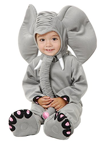 Charades Little Elephant Baby/Toddler Costume, Grey, -