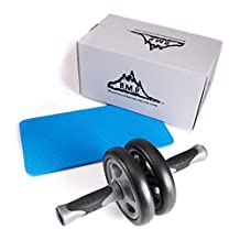 Black Mountain Dual Stability Ab Wheel with Knee Mat