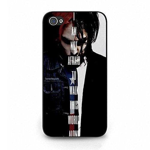 Iphone 4 4s Band MCR Cover Shell Cool Personalized Gerard Way Alternative/Indie Rock Band My Chemical Romance Phone Case Cover for Iphone 4 4s