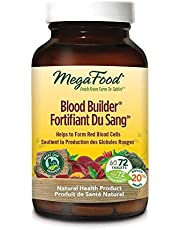 MegaFood - Blood Builder, Support for Healthy Energy Levels and Red Blood Cell Production, Iron, Beet Root, and Folate, 72 Tablets