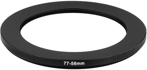 Sensei PRO 58mm Lens to 77mm Filter Aluminum Step-Up Ring 2 Pack