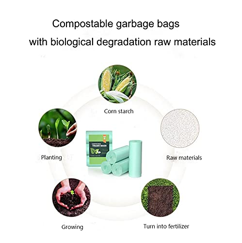 Trash Bags Small 1.2 Gallon , Mini Compostable Bathroom Wastebasket Can Liners GarbageBags for Home Office Kitchen fit 5 Liter 5L,1 Gal,75count