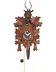Trenkle Quarter Call Cuckoo Clock with 1-Day Movement Five Leaves, Head of a Deer TU 624 nu