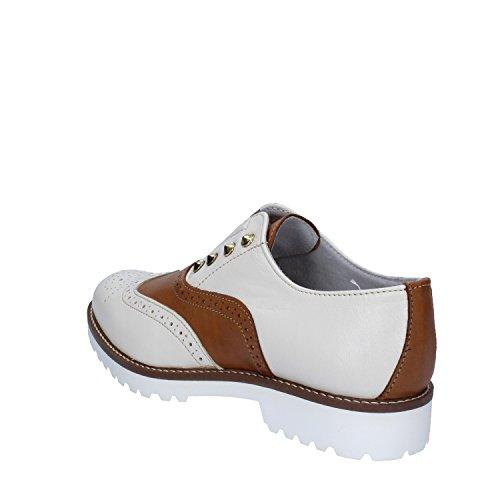 Cuoio OLGA Sintética de Cordones Marrone Mujer Beige de Zapatos Para RUBINI Piel q7wqgP