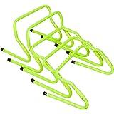 FEOOWV 5PCS Speed Training, Agility Footwork Hurdle - Quick Adjustment