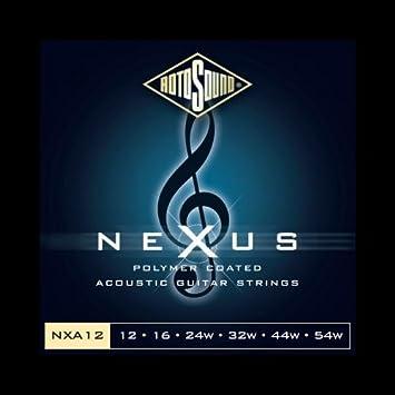 Cuerdas para guitarra acústica Rotosound Nexus revestimiento de polímero: Amazon.es: Instrumentos musicales