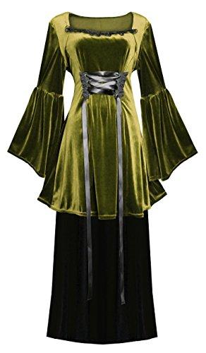 Steampunk Victorian Gothic Velvet Ensemble Top & Skirt