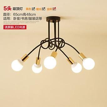 Moderne Deckenleuchten Deckenleuchte Studie Lampen Leuchten Licht Balkon  Schlafzimmer Garderobe Licht Im Wohnzimmer, 5 Schwarzen