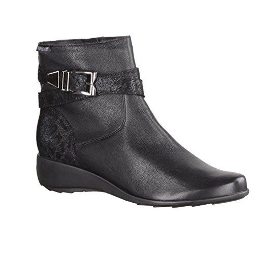 Mephisto Stacy–Scarpe da donna comoda di stivali stivaletti, Nero, pelle (Texas)
