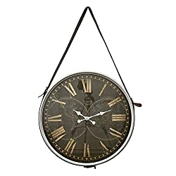 Three Hands 26 Wall Hanging Clock in Silver