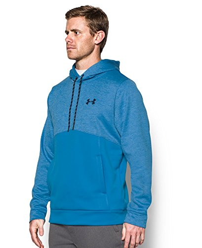 Under Armour Men's Storm Armour Fleece Twist Hoodie, Brilliant Blue/Midnight Navy, Large by Under Armour (Image #2)