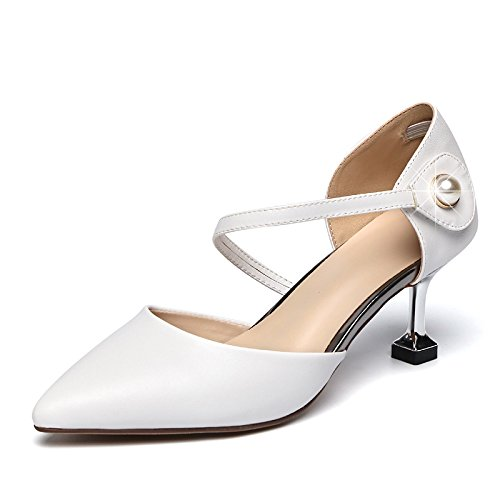 GTVERNH-Sommer Sandalen Frauen Mitte Heels Sagte Baotou Einzelne Schuhe Schuhe.