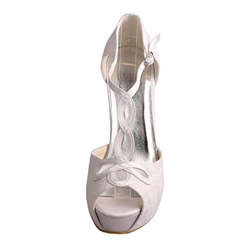 Wedopus - Zapatos con tacón mujer blanco