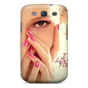 Galaxy S3 Hard Back With Bumper Silicone Gel Tpu Case Cover I Love You