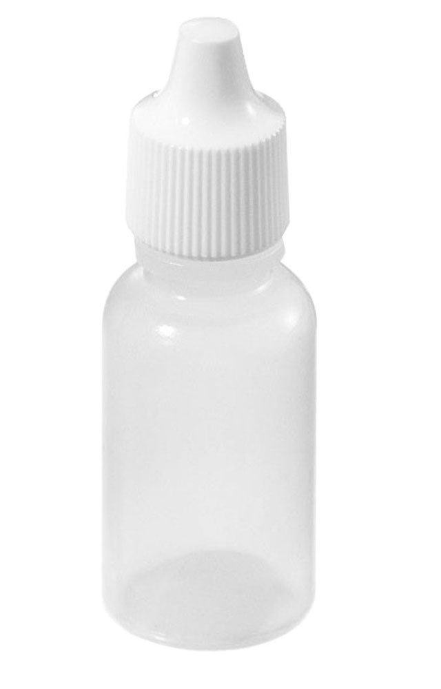 AKOAK 12 Pcs 15ml High Quality Plastic Squeezable Eye Liquid Dropper Bottles with Childproof Cap