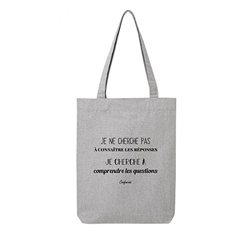 toile recycle bag citation en gris confucius Tote qTUHwO