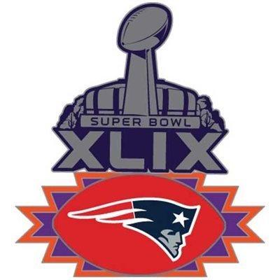 New England Patriots 2015 Super Bowl XLIX Pin (New England Super Bowl 49 Pin)