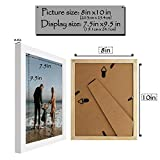 Golden State Art, White Photo Wood Collage Frame