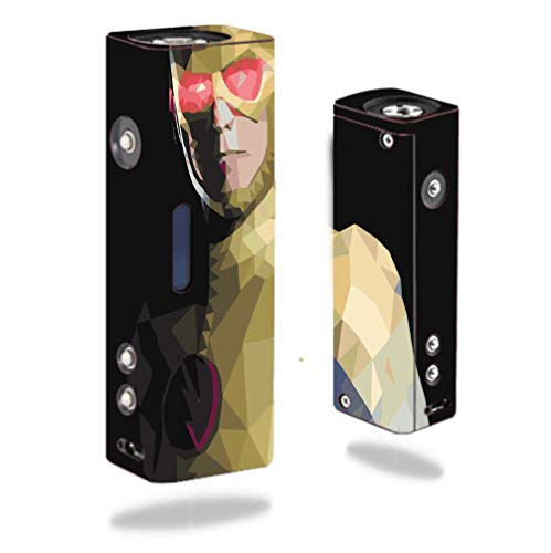 Single Villains - DECAL STICKER SKIN WRAP - Hana Modz V4S DNA 40 Single - Comic Book Villain Polygon Design