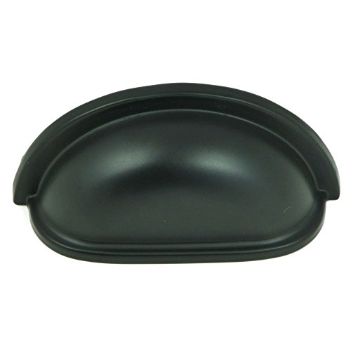 Stone Mill Hardware CP1499-MB-25P Matte Black Cup Pull, 25-Pack,
