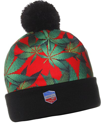 American-Cities-Unisex-Mary-Jane-Sublimation-Winter-Knit-Pom-Pom-Beanie-Hat-Cap