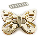 Bobeey 2sets Butterfly Purses Locks Clutches Closures with Butterfly Shape,Purse Twist Lock BBL2 (Light Gold)