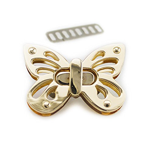 (Bobeey 2sets Butterfly Purses Locks Clutches Closures with Butterfly shape,Purse Twist Lock BBL2 (Light Gold))