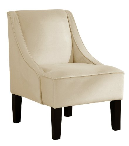 Skyline Furniture Swoop Arm Chair in Velvet Buckwheat