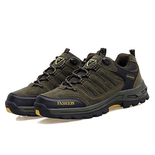 adulto botas verde de XIGUAFR Unisex oscuro caño bajo dXU6nq8