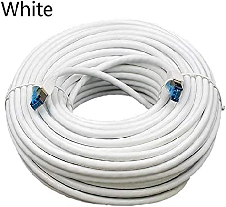 Cables 5//10//15//20m Ethernet Cable Cat5e LAN Cable UTP Cat 5 Network Patch Cable Metal Connector for PS2 PC Computer Router Cable Cable Length: 5m, Color: Black