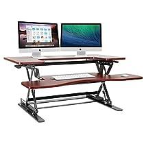 Halter ED-258 Preassembled Height Adjustable Desk Sit / Stand Up Desk Elevating Desktop