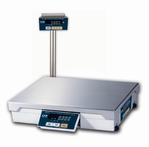 CAS PD-2 Point-Of-Sale/Multi Purpose Scale, Oz & Lb Switchable, Upto 60 lbs 0-30 x 0.01lbs/30-60 x 0.02lbs Dual Range with Tower Display, Legal-for-Trade (Scale Point)
