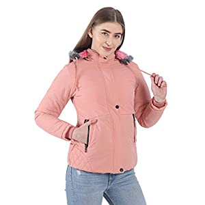 CLASSIO FASHION Women's Nylon Full-Sleeved Winter Jacket with Hood