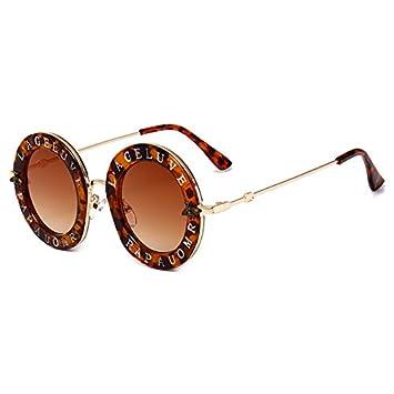 Burenqi@@ Las Letras de la Marca de Moda Mujer Gafas ...