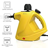 BRIHOU Handheld Pressurized Steam Cleaner - Powerful Multi-Purpose Chemical-Free Steam Cleaning for Home, Auto, Patio, More (Yellow)