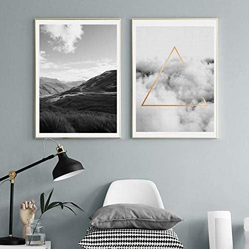 北欧のキャンバスプリントとポスターウォールアート絵画壁の写真家の装飾-50x70cmx2個フレームなし