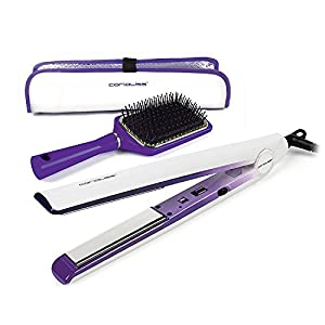 CORIOLISS C1 Style Kit - Styling Set (with paddle brush and heat pouch) - Purple Ombre Design - Worldwide voltage