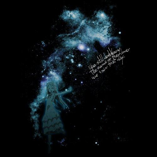 Ano Hi Mita Hana no Namae wo Bokutachi wa Mada Shiranai Night Sky & Menma T-shirt Black L