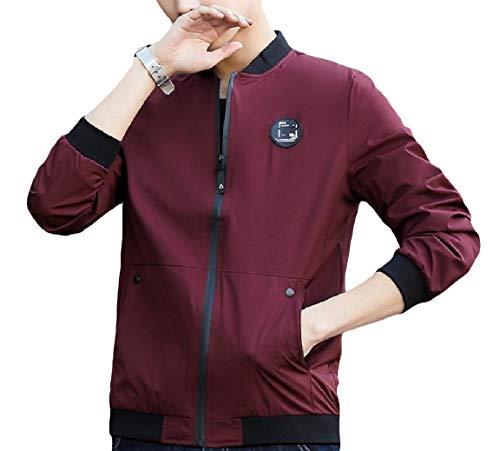 Jacket Splice MogogoMen Sleeve Pocket Lounge Oversized Long Collar Outwear Pattern12 Stand z0rzqgw