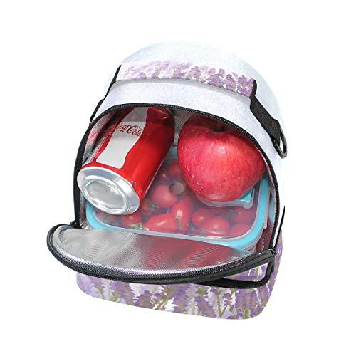 para hombro de Bolso morado color correa el lavanda para ajustable doble y almuerzo picnic HRtRqXwf