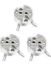 parlat Universele keramische stekkerdoos voor G4, GU5.3, GY6.35 laagspanningsaansluiting 12V max. 25W, 3 st.