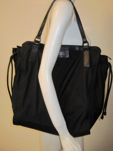 Burberry Buckleigh Black Packable Nylon Tote BAG  Amazon.ca  Shoes    Handbags a740271eb83d3