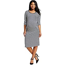 Women's Maternity 3/4 Sleeve T-Shirt Dress