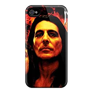 Excellent Hard Phone Covers For Iphone 4/4s (NZH16376gpck) Allow Personal Design Lifelike Manowar Band Series