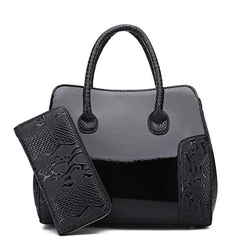 Clutch Handbag Wallets B lucida Zlulu croce a A vernice diagonale in versatile tracolla Borse xpEEqwB