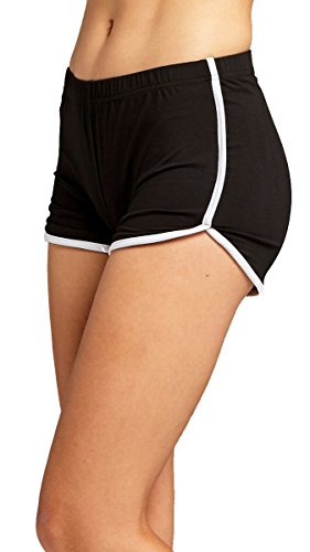 Ultra Soft Active Shorts (Small, Black/White)