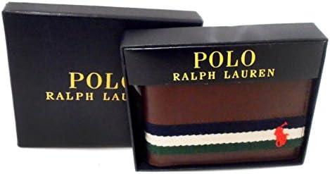 Polo Ralph Lauren hombres cuero Bifold Cartera de cinta: Amazon.es ...